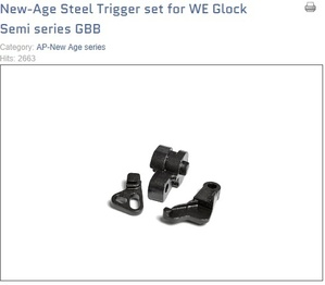New Age Steel Trigger set for WE Glock(G17/19)